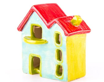 Country Cottage, Small House, Ceramic House, Miniature House