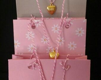 Lg gift bag set of 4 Made to Order