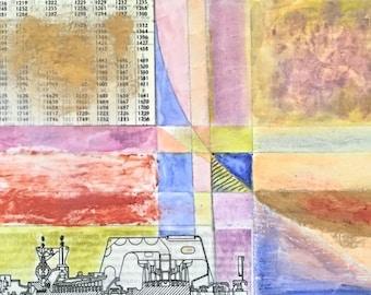 MIXED MEDIA COLLAGE, collage art, mixed media painting, mixed media, mixed media wall art, mixed media art, modern art, 5x7