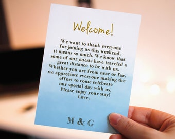 Welcome letter to hotel guests wedding inviview 40 off editable template simple wedding welcome bag note welcome letter wedding itinerary hotel bag destination spiritdancerdesigns Choice Image