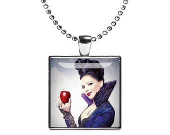 Regina Evil Queen Necklace Once upon a Time Pendant Evil Queen Fandom Jewelry Cosplay Fangirl Fanboy