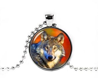 Wild Wolf Necklace Wild Wolf Pendant Wolf Jewelry Wolf Pendant Animals Wild Wolf