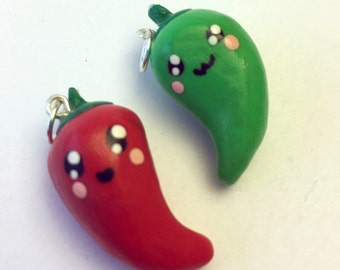 Chili Pepper Charm - Polymer Clay