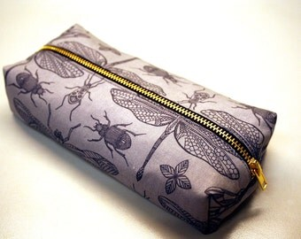 Pouch Dragonfly Case Zippered