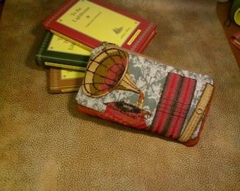 Bookcase coin purse, retro coin purse, gramophone purse