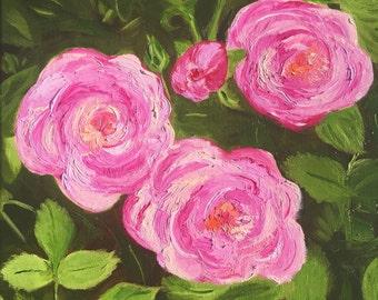 Summer Roses Original Oil