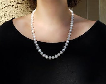 White Freshwater Pearl Single Strand necklace.