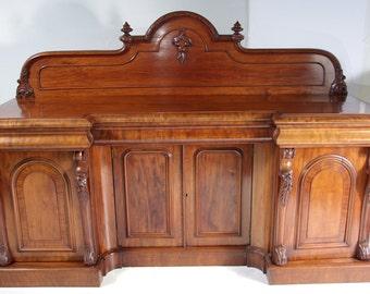 B373 Impressive Victorian Mahogany Sideboard, Chiffonier, Buffet