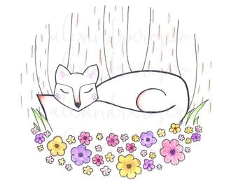 Flower Bed Fox