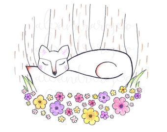 Flower Bed Fox