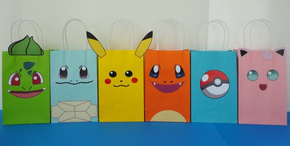 Pokemon Party Treat Favor Bags | Birthday Wikii