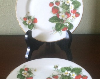 Hammersley Strawberry Ripe Bread and Butter Plates