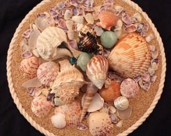 Shell & Sand Handmade Original Collages- Purple #1