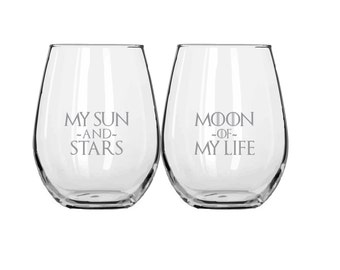 My Sun and Stars / Moon of My Life - Glassware Set