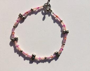 Pink and Orange Butterflies Bracelet