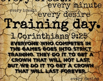 Training day 1 Corinthians 9:25