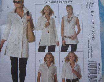 McCalls 5433 Shirt Sewing Pattern 14-22