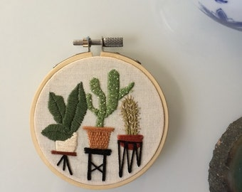 Mini Jungle Embroidery