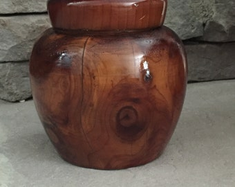 Wooden Air Tight Jar