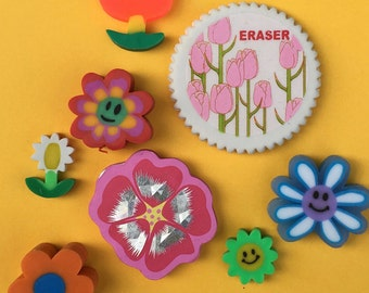 Flower Power Eraser Collection Set