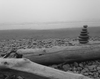 Black and White - Landscape Photograph - Isolated Contemplation