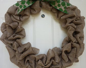 Burlap Wreath with Interchangeable Bows, Year Round, Holidays, Occasions, Seasons, Customizable