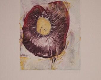 Untitled- Purple Seed Pod