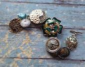 Southwest Boho Beaded Bracelet, Blue Beaded Bracelet, Southwest Jewelry, Boho Jewelry, Southwestern Bracelet