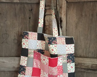 Tote Bag, Shopping Bag with lining and pockets