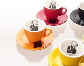 Edvard Munch_Scream -_Espresso Cup SET <5 colors combination>