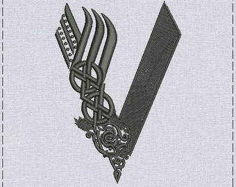 Vikings logo machine embroidery design