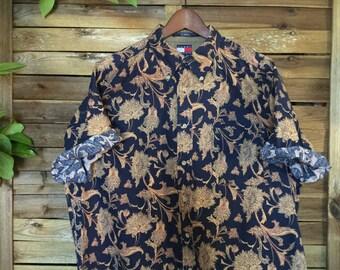 Print Shirt Tommy Hilfiger Cashmere Estampada Vintage