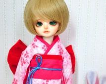 YOSD Simple Handmade Kimono Pink Clover