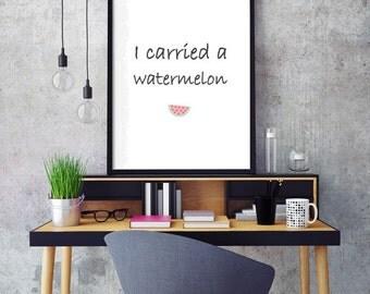 Print watermelon