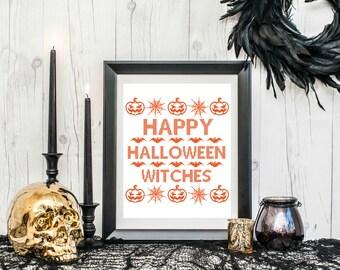 PRINTABLE Happy Halloween Witches Print