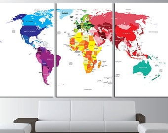World map wall art etsy gumiabroncs Image collections