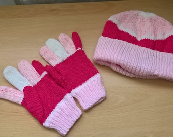 Ladies Hat and Gloves set