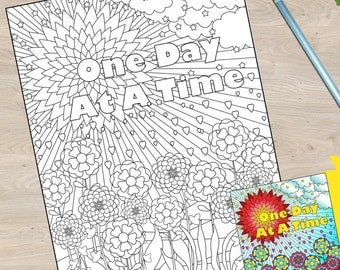 One Day at A time Coloring Book page