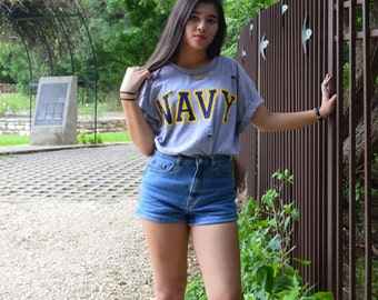 US Navy Distressed Tee
