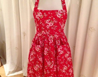 """Vintage Style """"Ginny"""" Handmade Couture Apron"""