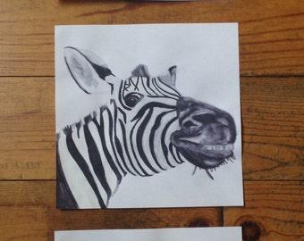 Triptych African animals