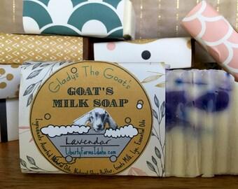 Gladys the Goat's Lavender Goat Milk Soap