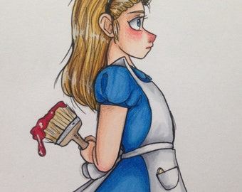 Disney's Alice in Wonderland Alice character profile print