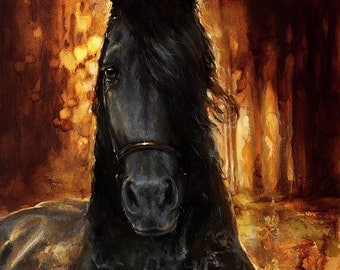 Custom Horse oil portrait, High Quality Realistic painting from your photographs. Wall Art equine unique Christmas present for horse lover.