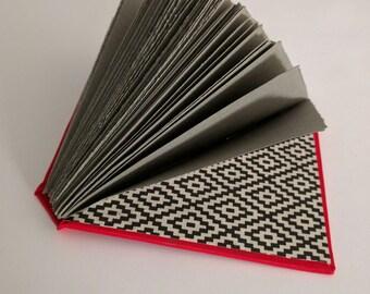 Mr. Isosceles handmade sketchbook