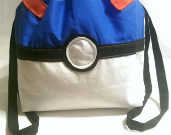 Extra Large Reversible Pokeball Drawstring Bag