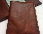 Brown Faux Leather Passport Cover, Handmade Personal Passport Holder