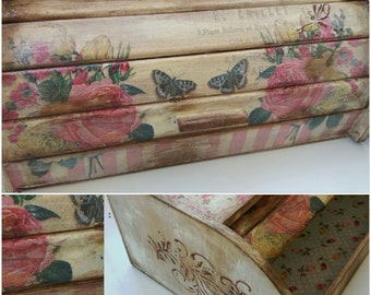 Bread box shabby chic , caja de pan
