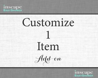 Customize 1 Instant Download Item