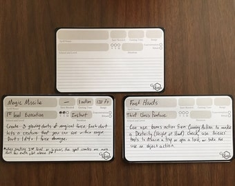Spell/Class Feature/Ability Index Cards
